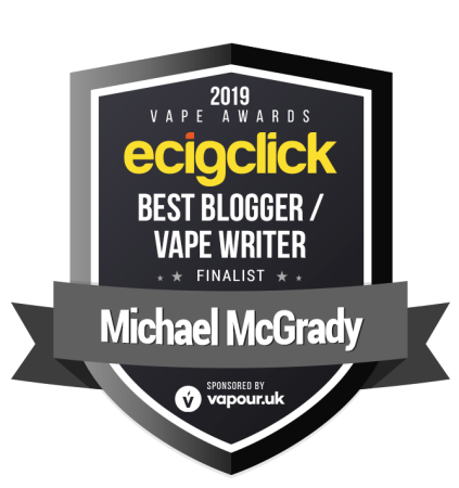 Michael McGrady - best blogger - finalist - ecigclick award 2019